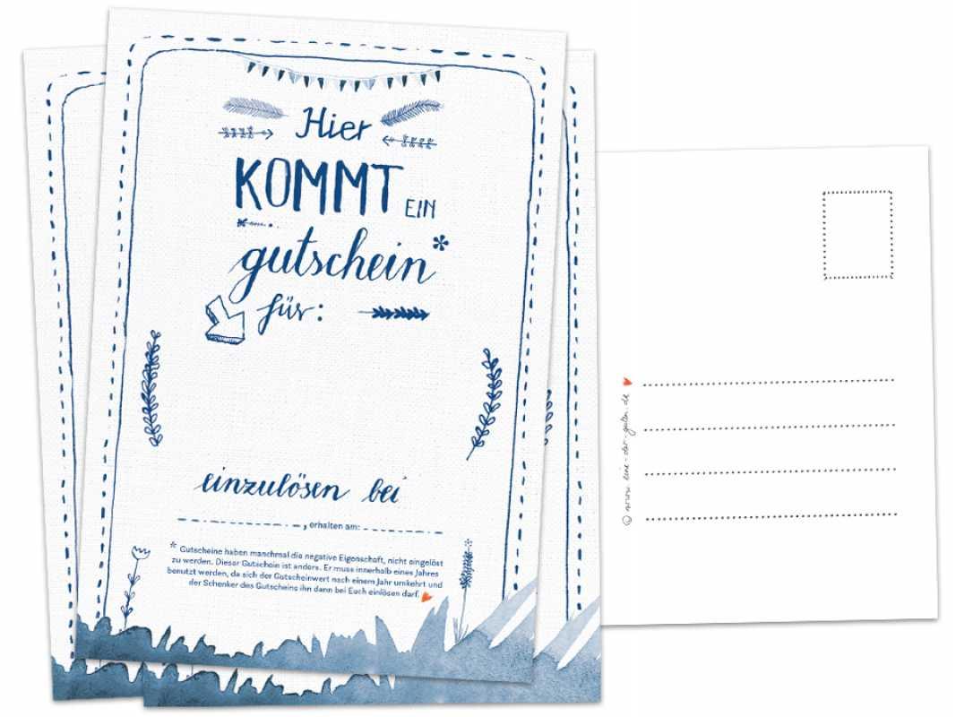 Gutschein Coupon Postkarte Geburtstagsgeschenk Karten Abschied ...