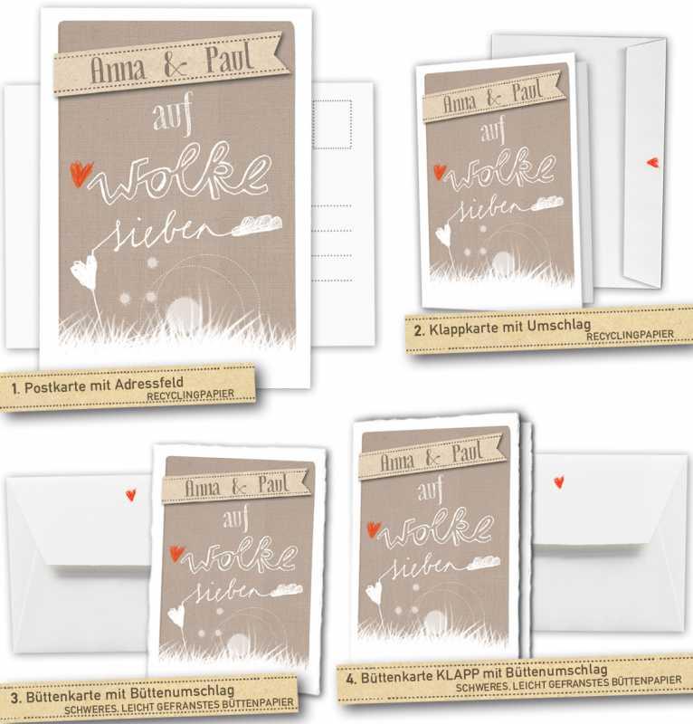 30 100 Hochzeitskarten Mit Namen Retro Vintage Auf Dem Weg Zur