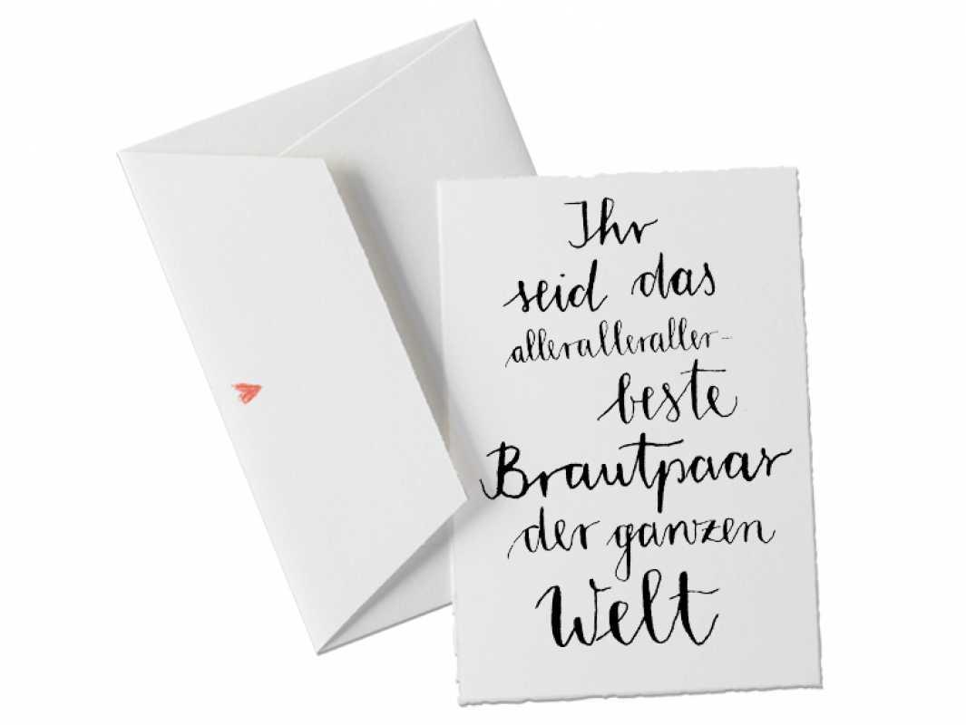 Briefumschlag Beschriften Für Das Brautpaar : Büttenkarte in schönem design kalligrafie schwarz weiß
