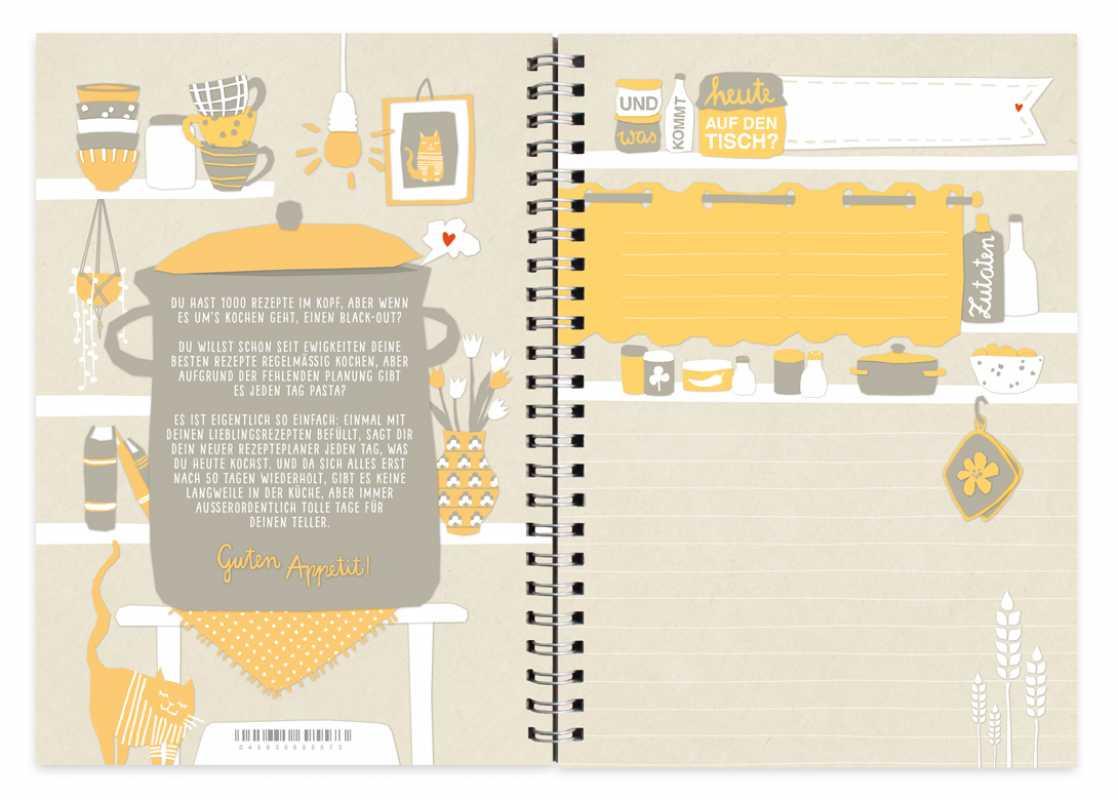 tellertage rezeptbuch zum selbst gestalten vintage creme eine der guten papeterie. Black Bedroom Furniture Sets. Home Design Ideas