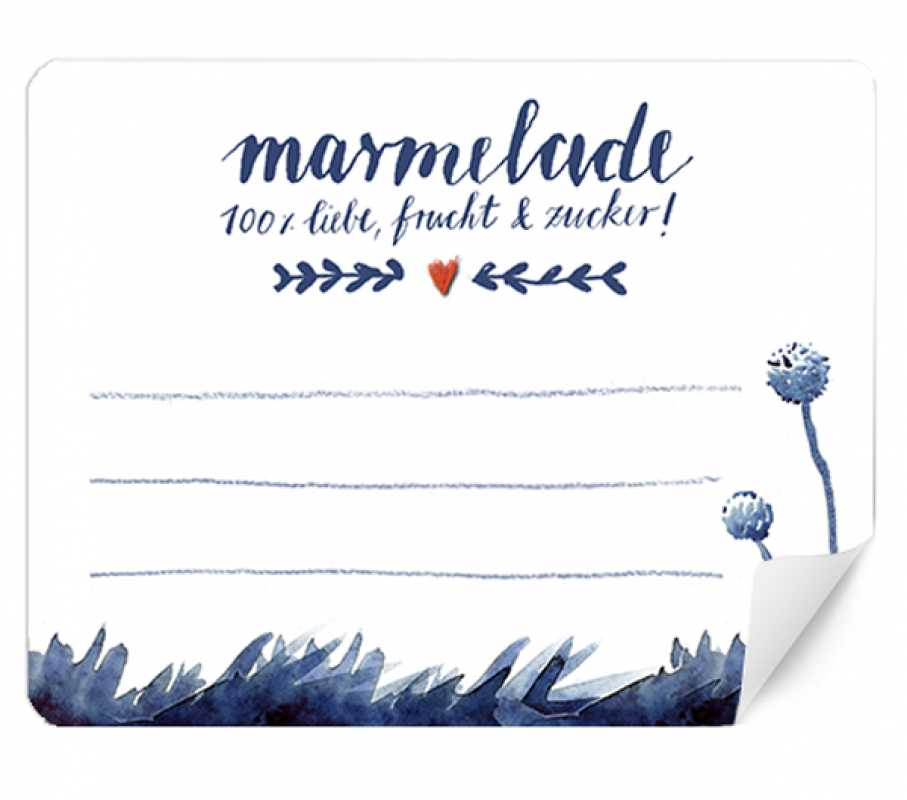 15x blau wei e marmeladenetiketten rechteckig 48x61mm eine der guten papeterie postkarten. Black Bedroom Furniture Sets. Home Design Ideas