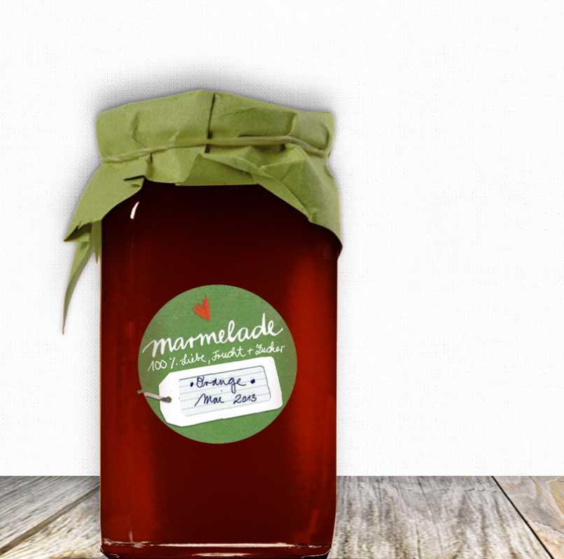 24x gr ne marmeladenetiketten rund 40mm eine der guten papeterie postkarten aufkleber. Black Bedroom Furniture Sets. Home Design Ideas