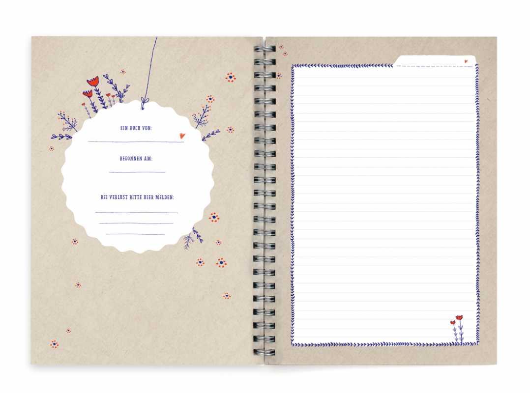 tagebuch meine welt a5 notizbuch spiralbindung links eine der guten. Black Bedroom Furniture Sets. Home Design Ideas
