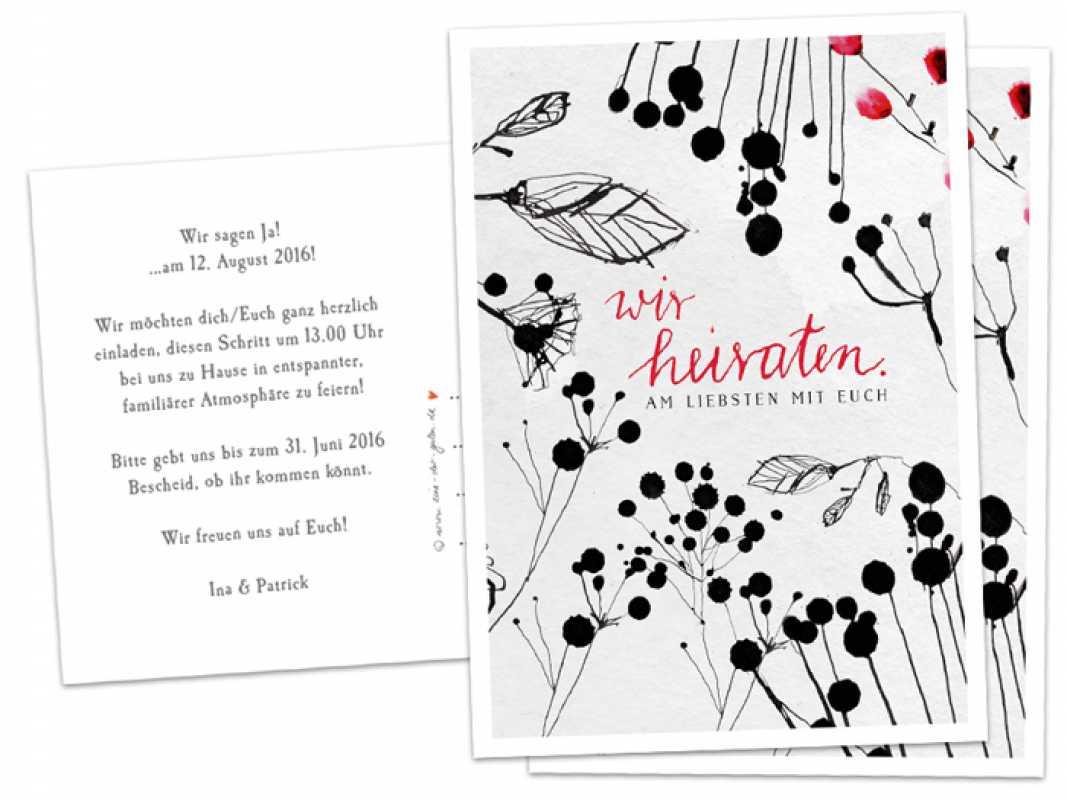 30 100 Hochzeitskarten Wir Heiraten Am Liebsten Mit Euch Schwarz